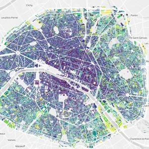 Des cartes et des couleurs : carte interactive bâti parisien à travers le temps